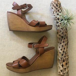 Madewell Wylie Wedge Sandals sz 8.5